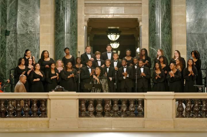 5. Leotha Stanley & choir